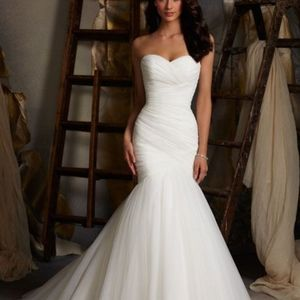 Mori lee ivory Tulle gown